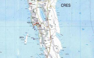 Карта острова Црес