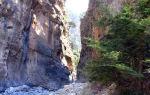 Самарийское ущелье на Крите