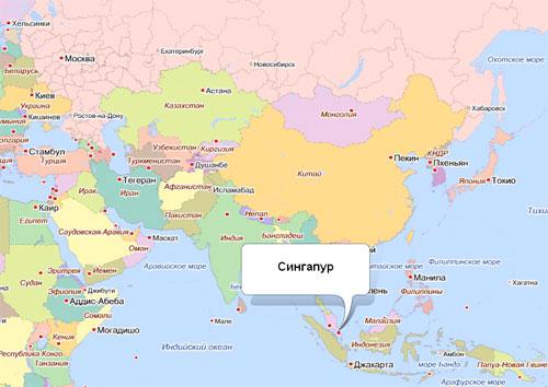 Gde Nahoditsya Singapur Na Karte Mira