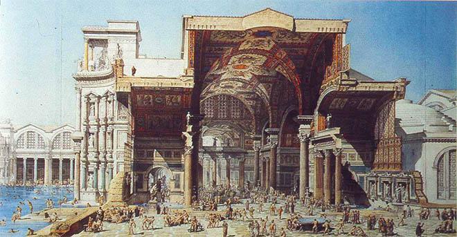 Внешний вид Терм Диоклетиана в древности